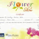 CHW Flower Show Certificate