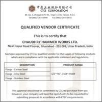 Qualified Vendor Certificate