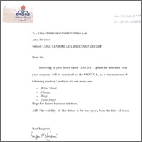 NiGC Vendors List