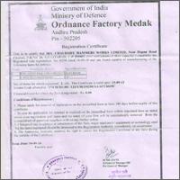 Ordance factory Medek Certification