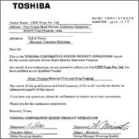 Toshiba Qualified Vendor