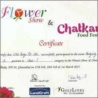 Certificate Flower Show