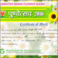CHW CHW Forge won 1st prize in Greater Noida Flower Show 2016