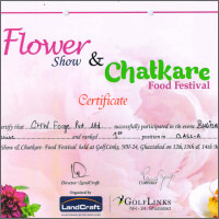 CHW Forge won 1st prize in Greater Noida Flower Show 2016