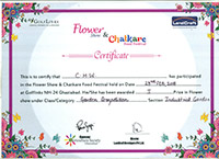 chw forge participated in flower show